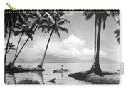 Hawaii Tropical Scene Carry-all Pouch by Underwood Archives