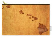 Hawaii Word Art State Map On Canvas Carry-all Pouch