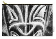 Hawaiian Mask Negative Black And White Carry-all Pouch
