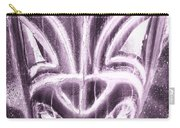 Hawaiian Mask Negative Pink Carry-all Pouch
