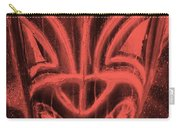 Hawaiian Mask Negative Salmon Carry-all Pouch