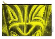 Hawaiian Mask Negative Yellow Carry-all Pouch