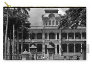 Hawaii's Iolani Palace In Bw Carry-all Pouch