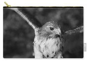 Hawk Attack Black And White Carry-all Pouch
