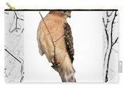 Hawk Framed In Branch Outline Carry-all Pouch