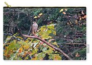 Hawk On A Limb Carry-all Pouch