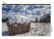 Hay Bale In The Snow Carry-all Pouch