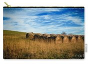 Hay Bales And Contrails Carry-all Pouch