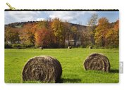 Hay Bales And Fall Colors Carry-all Pouch by Christina Rollo