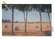 Hay Bales And Pines, Pienza, 2012 Acrylic On Canvas Carry-all Pouch