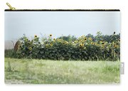 Hay Bales And Sunflowers Carry-all Pouch