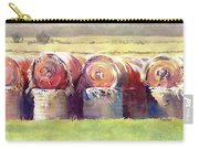 Hay Bales Carry-all Pouch by Kris Parins