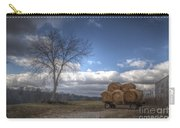 Hay Bales On A Wagon Carry-all Pouch
