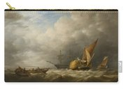 Hay Barges In The Thames Estuary Carry-all Pouch by Alfred Herbert