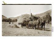 Horse-drawn Hay Wagon Carmel Valley California Circa 1905 Carry-all Pouch