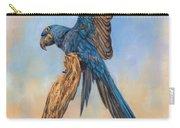 Hayacinth Macaw Carry-all Pouch by David Stribbling