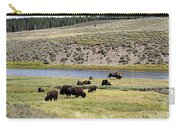Hayden Valley Bison Herd In Yellowstone National Park Carry-all Pouch