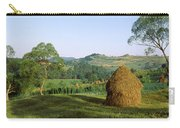 Haystack At The Hillside, Transylvania Carry-all Pouch
