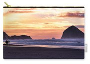 Haystack Rock Beach Walk Sunset Carry-all Pouch