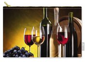 Hdr Style Wine Glasses Bottle Cask And Grapes Carry-all Pouch
