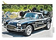 Chevrolet Corvette Vintage With Curly Background Carry-all Pouch
