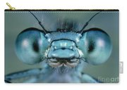 Head And Compound Eyes Of Damselfly Carry-all Pouch