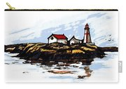 Head Harbour Lighthouse - Field Sketch Carry-all Pouch