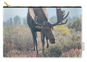 Head Lowered Bull Moose Carry-all Pouch