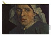 Head Of A Peasant Woman With White Cap Carry-all Pouch