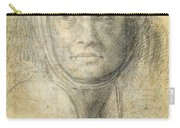 Head Of A Woman Carry-all Pouch by Michelangelo Buonarroti