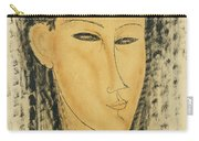Head Of A Young Women Carry-all Pouch
