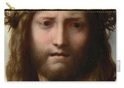 Head Of Christ Carry-all Pouch by Correggio