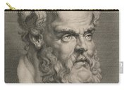 Head Of Socrates Carry-all Pouch by Anonymous