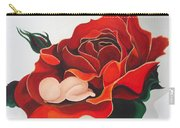 Healing Painting Baby Sleeping In A Rose Carry-all Pouch