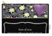 Heart And Love Design 14 With Bible Quote Carry-all Pouch