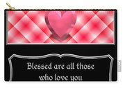 Heart And Love Design 15 With Bible Quote Carry-all Pouch