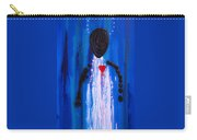 Heart And Soul - Angel Art Blue Painting Carry-all Pouch by Sharon Cummings