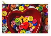 Heart Bowl With Buttons Carry-all Pouch
