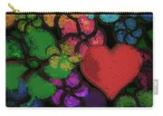 Heart In Flowers Carry-all Pouch
