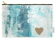 Heart In The Sand- Abstract Art Carry-all Pouch