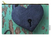 Heart Lock And Key Carry-all Pouch