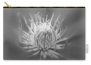 Heart Of A Red Clematis In Black And White Carry-all Pouch