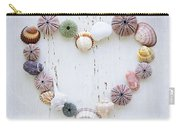 Heart Of Seashells And Rocks Carry-all Pouch