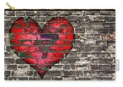 Heart On The Old Wall Carry-all Pouch