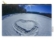 Heart Outlined On Snow On Topw Of Frozen Lake Carry-all Pouch