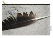 Heart Rock And Feather Carry-all Pouch