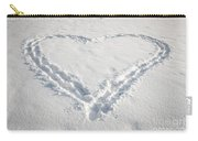 Heart Shape In Snow Carry-all Pouch