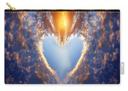 Heart Shape On Sunset Sky Carry-all Pouch