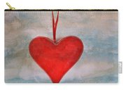 Heart Shape Textured Carry-all Pouch