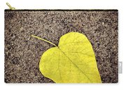 Heart Shaped Leaf On Pavement Carry-all Pouch